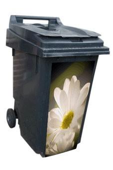 Poubelle conteneur à déchets 3 autocollants