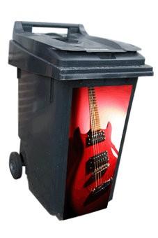 Guitar dustbin Sticker