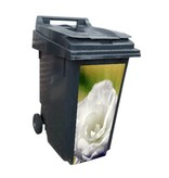 White Rose container / dustbin Sticker