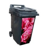Rosa/roja contenedor pegatinas