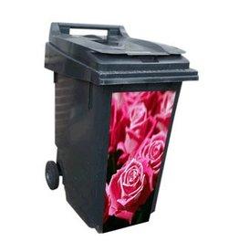 Rosa Rosen Mültonnen Sticker
