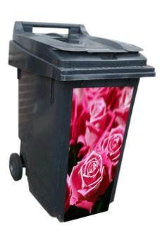 Autocollant de conteneur roses rouges