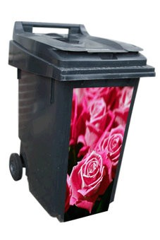 Red Roses Container Sticker