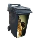 Saxófono contenedor pegatinas