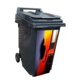 Violon poubelle autocollant