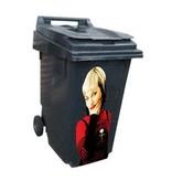 Mujer 1 contenedor pegatinas