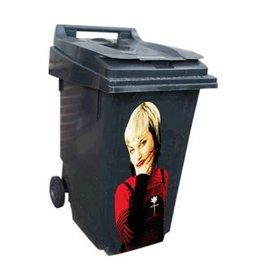 Woman 1 dustbin Sticker