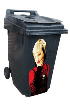 Woman 1 dustbin Sticker