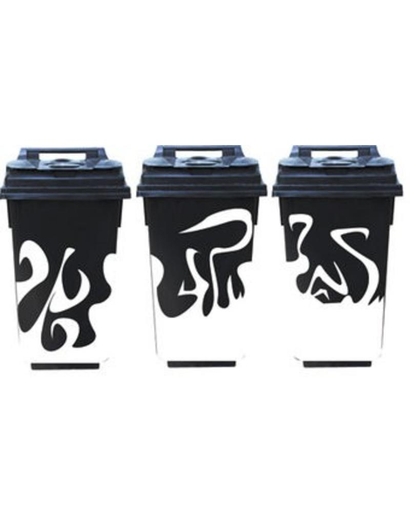 Living flames 3 container / dustbin stickers