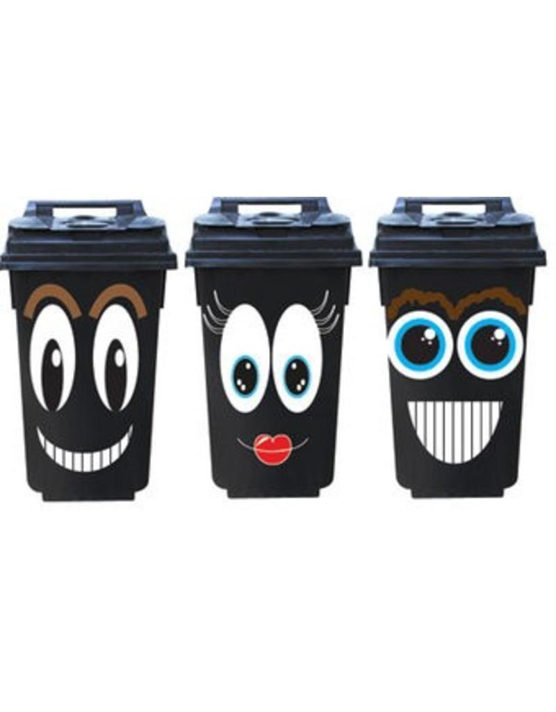 Smiley 3 contenedor pegatinas
