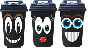 Smiley 3 container Stickers
