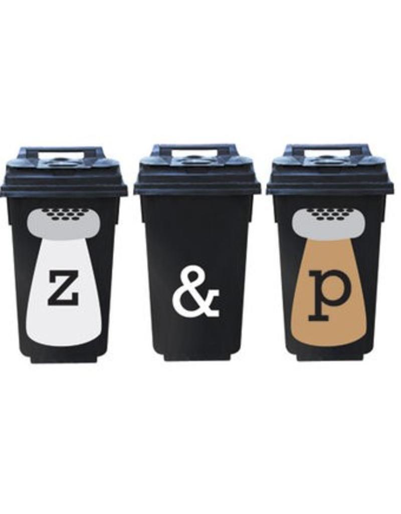 Salt & Pepper 3 bin stickers