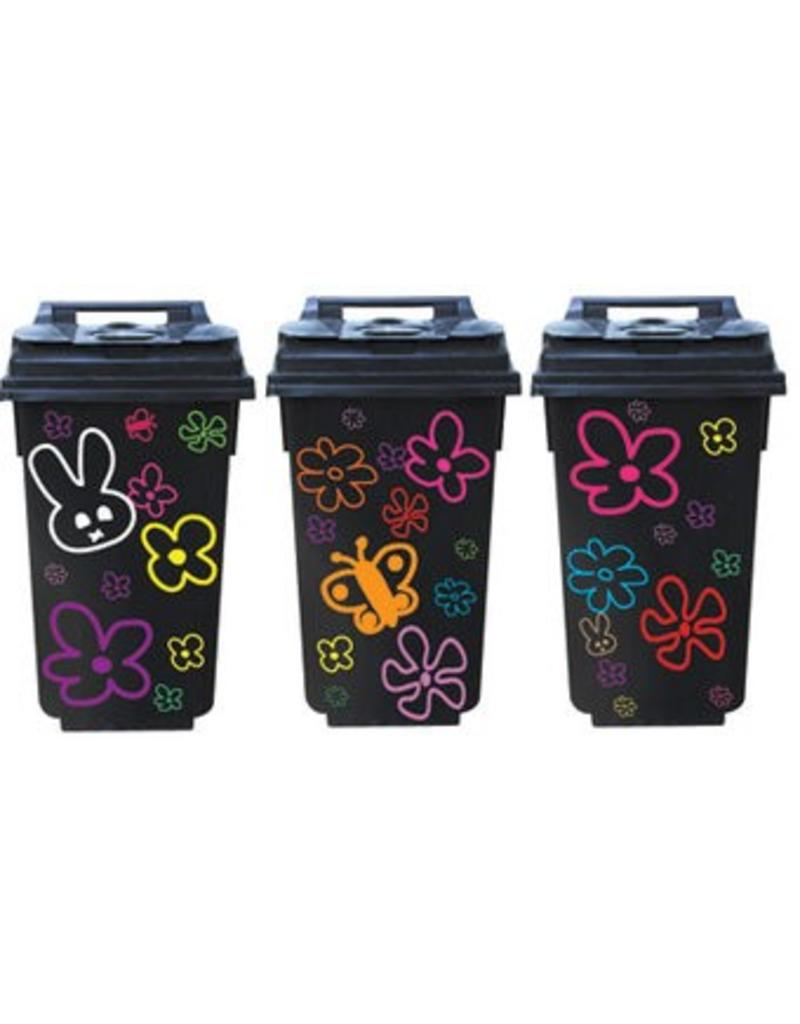 Trash can container 3 Stickers