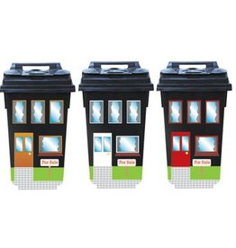 Houses for Sale 3 container/dustbin Stickers