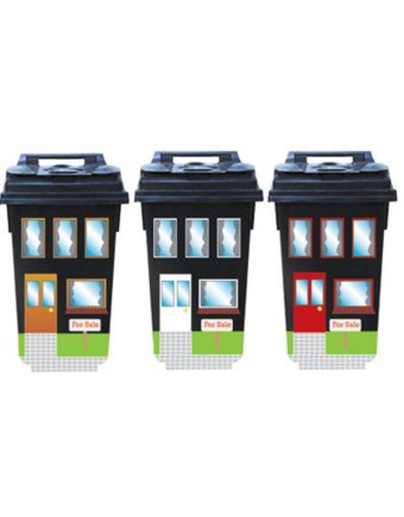 Venden casas 3 contenedor pegatinas