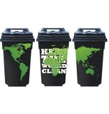 Keep the world clean 3 container / dustbin Stickers