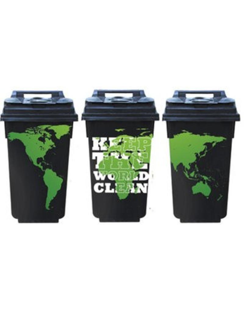 Keep the world clean 3 contenedor pegatines