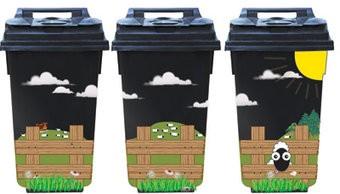 Landschap 3 container Stickers