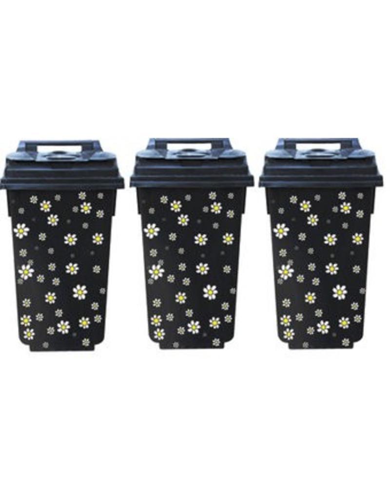 Flowers 3 dustbin Stickers