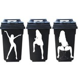 Femmes 3 poubelles autocollant 1