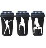 Mujeres bailando 3 contenedor pegetinas