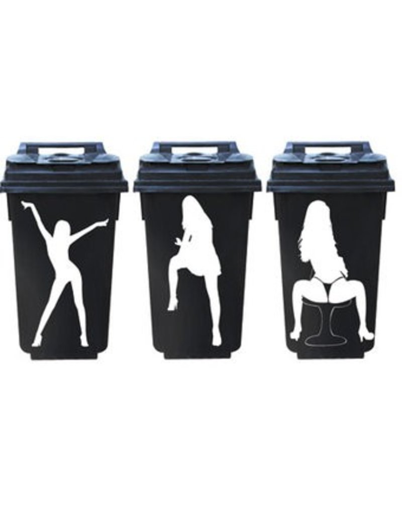 Woman3 dustbin Stickers1