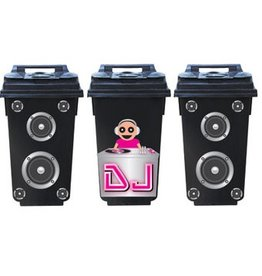 Dj container 3 Stickers