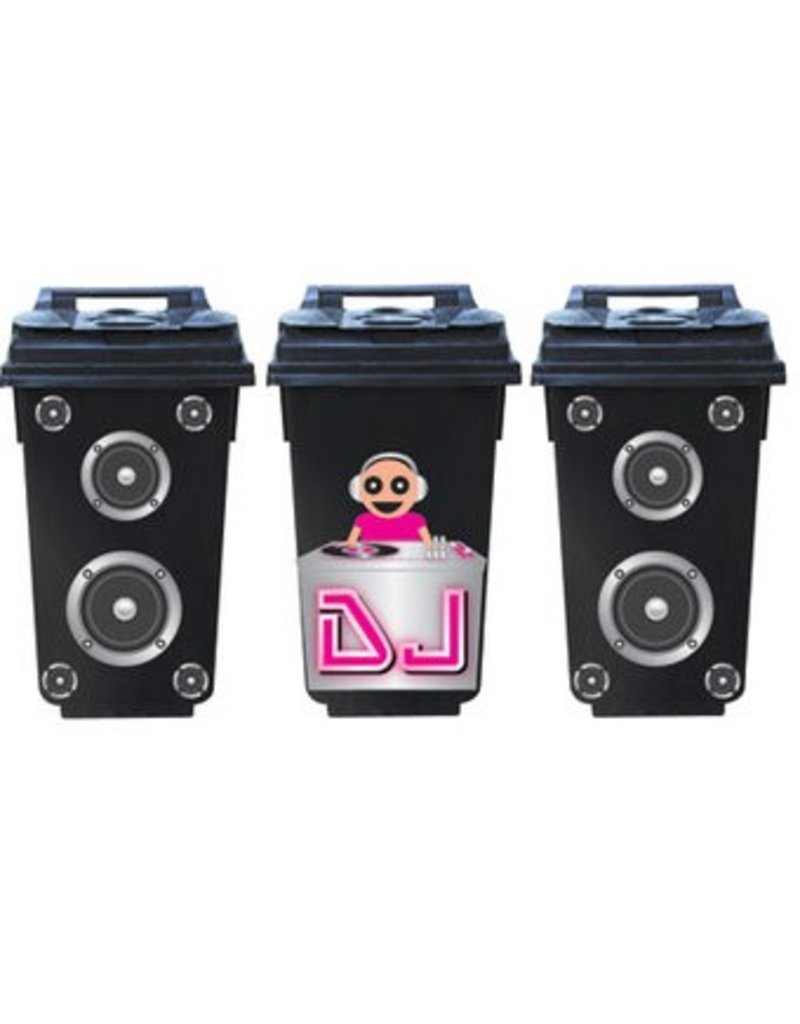 DJ conteneur 3 autocollant