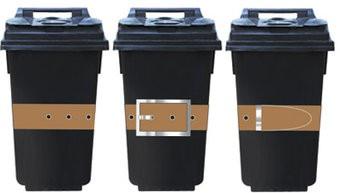 Autocollant de 3 conteneurs ceinture