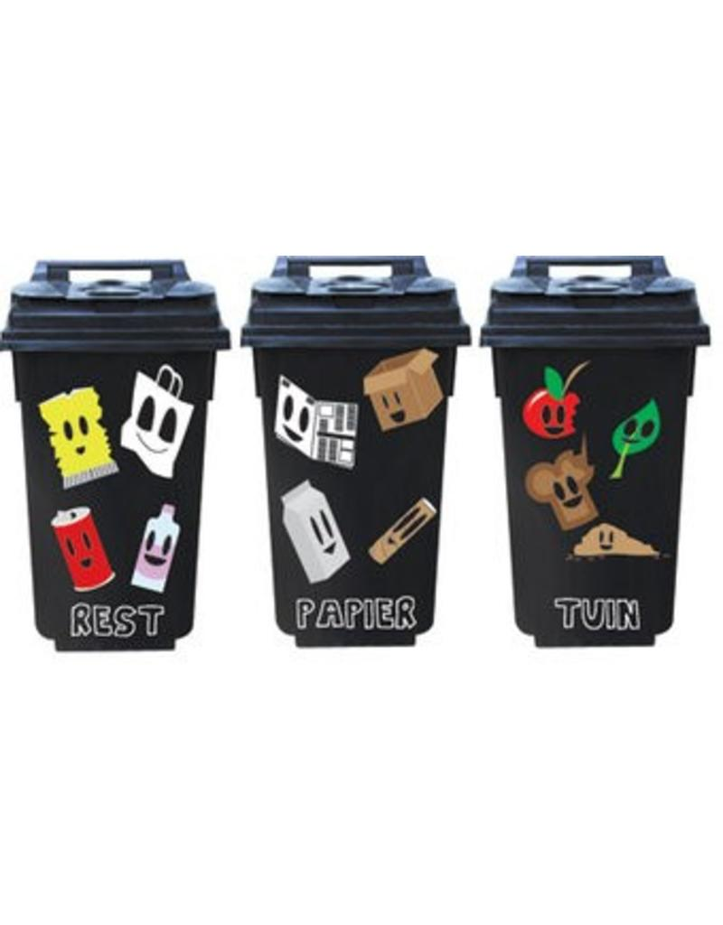 Afval container 3 Stickers