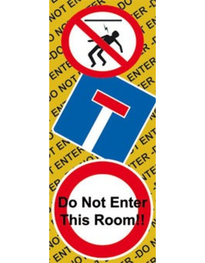 "Autocollant porte ""Do Not Enter"""