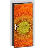 Pegatina de puerta flor