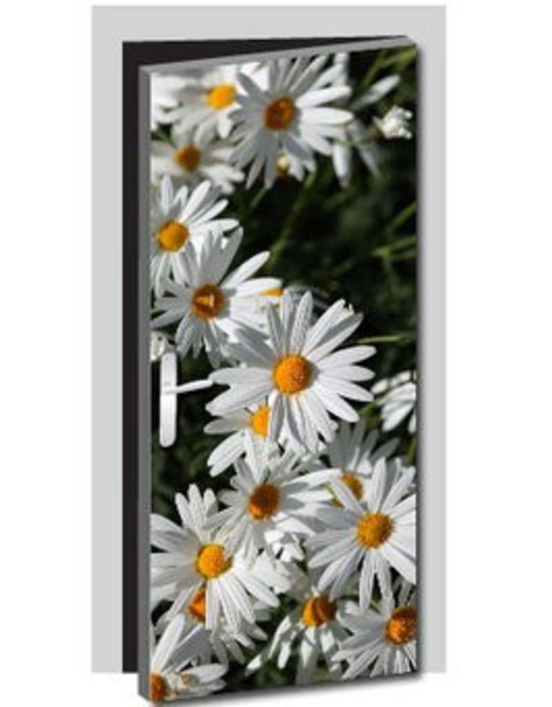 Pegatina de puerta flor 1