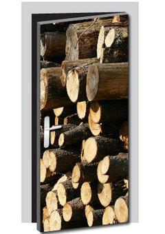 Tree stump door sticker