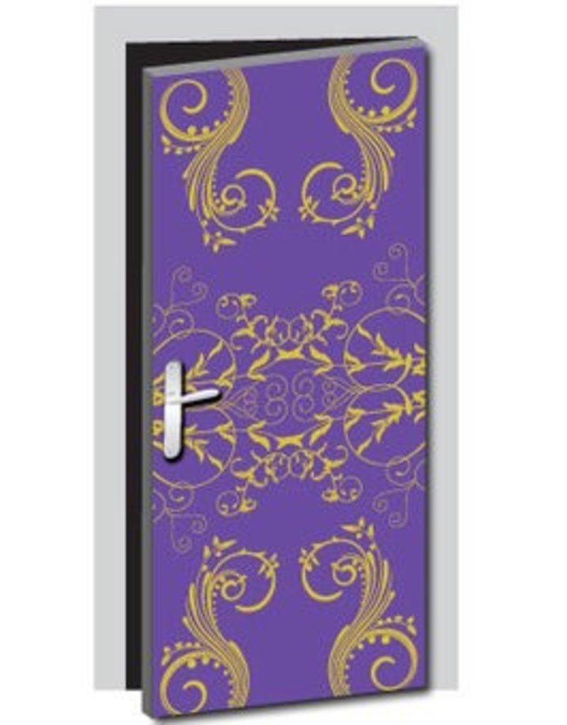 Pegatina de puerta floral