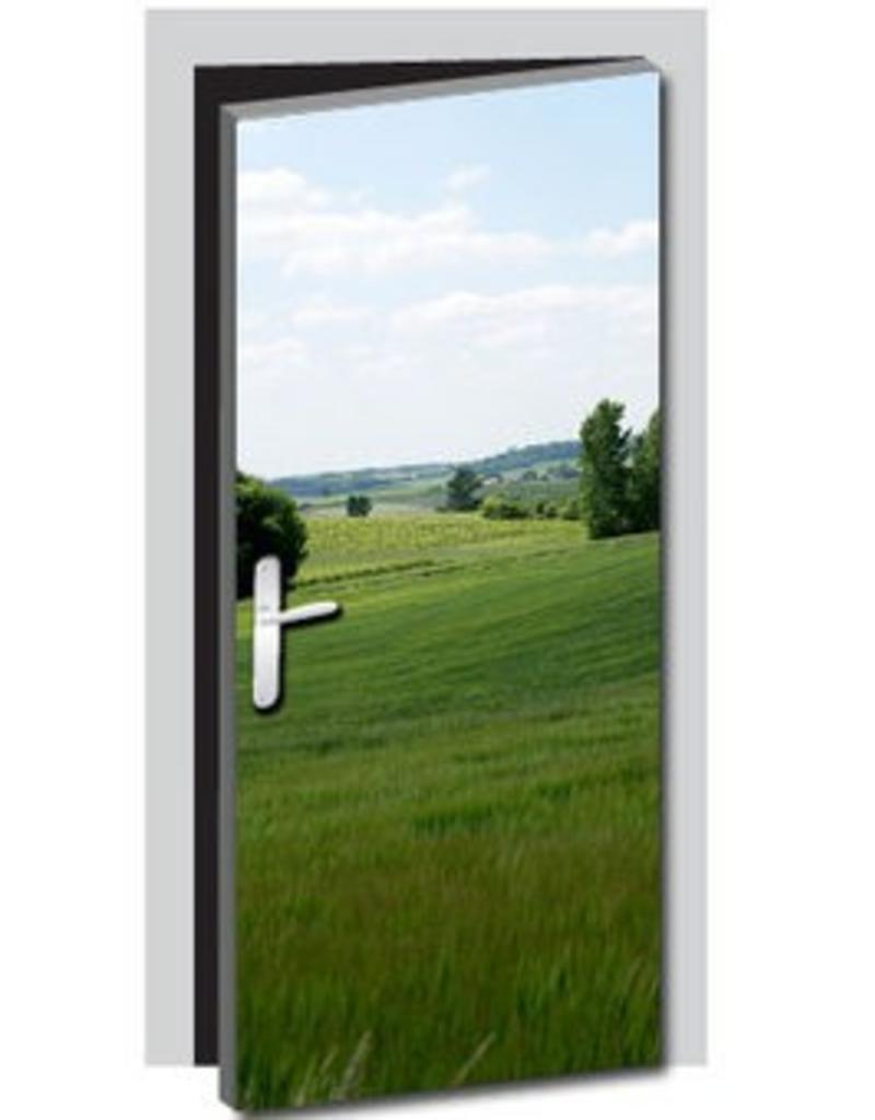Landscape Door sticker