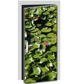 Water lilies Door sticker