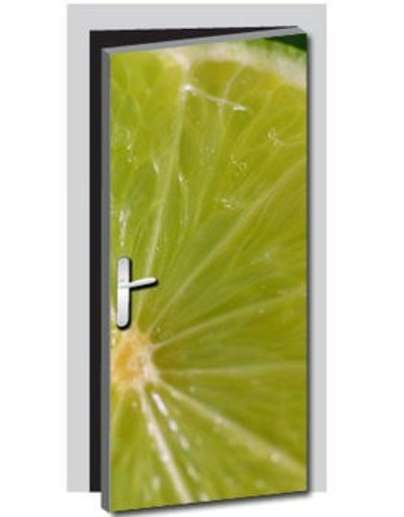Lime Door sticker