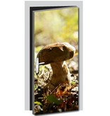 Mushroom puerta pegatina