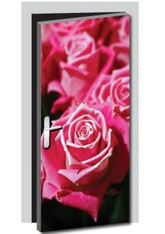 Vinilo para puerta rosas