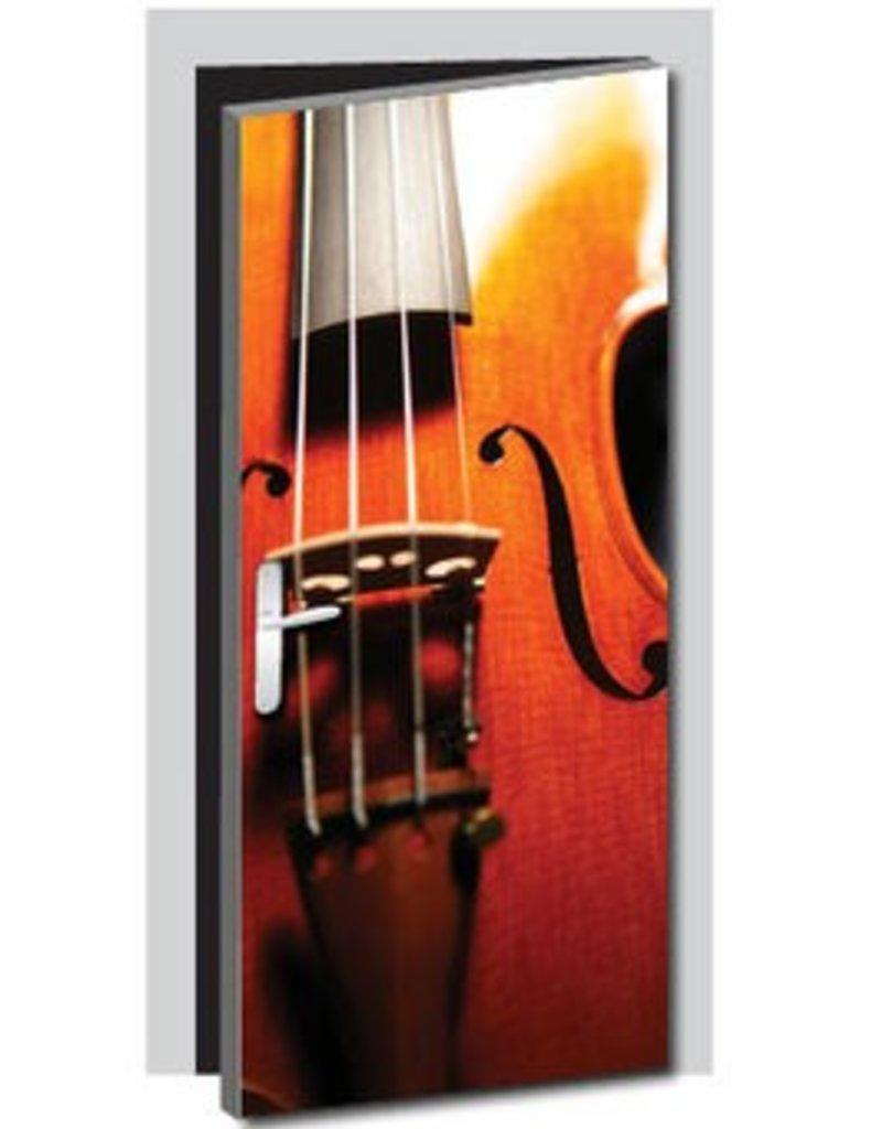 Vinilo para puerta violín