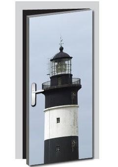 Leuchtturm Tür Aufkleber