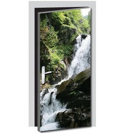 Waterfall Door sticker