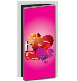 Hearts Door sticker