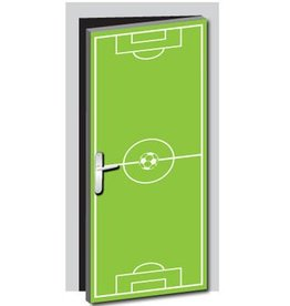 Football Field Door Sticker