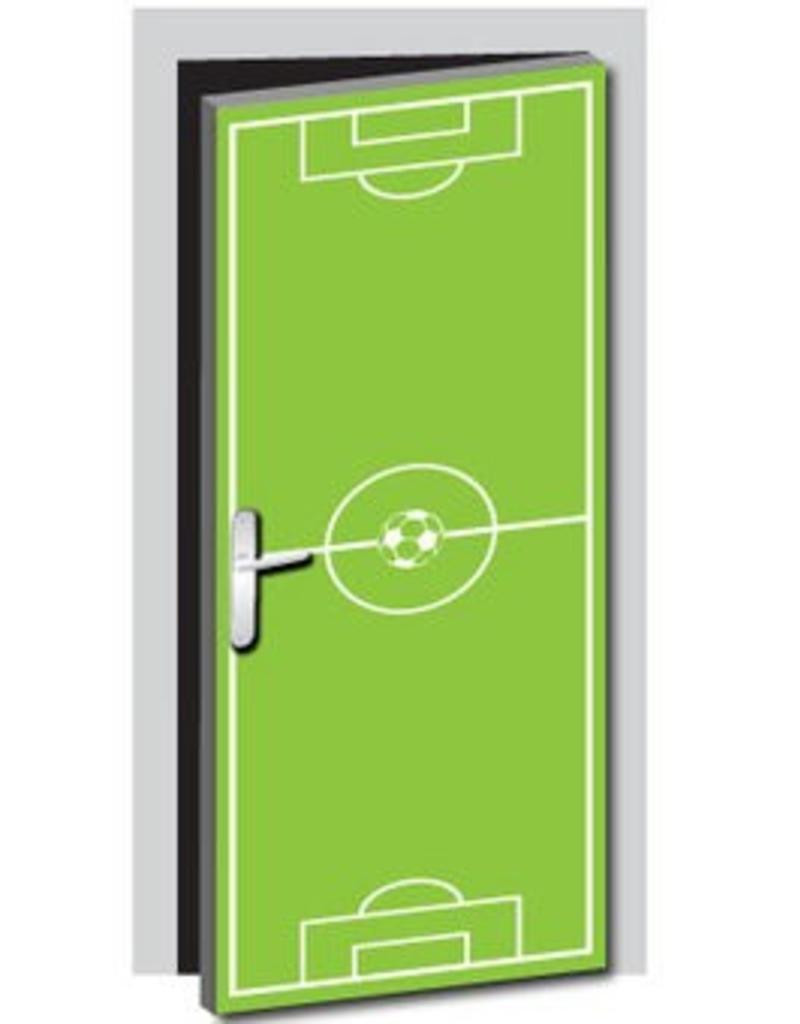 Football Field Door Sticker