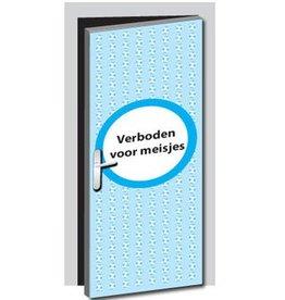 Pegatina de puerta prohibido para chicas
