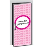 Verboten für Jungen Tür Aufkleber