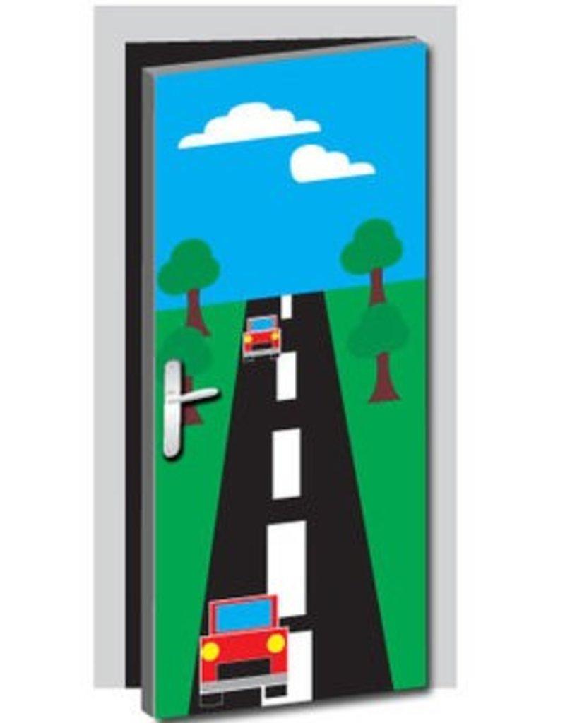 Autoweg Deur sticker