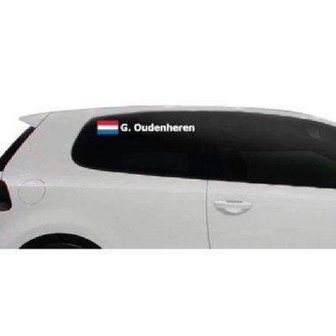 Rallye Flagge mit Name